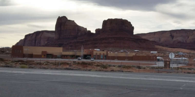 The visitor center for the Kayenta-Monument Valley Scenic Road