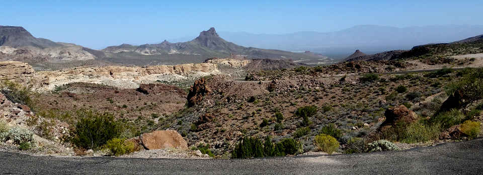 Along the Historic Route 66 Back Country Byway between Oatman and Kingman