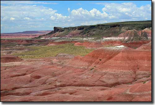 A typical view in the Painted Desert along Historic Route 66