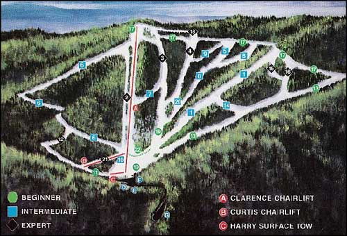 Mt. Lemmon Ski Trails map