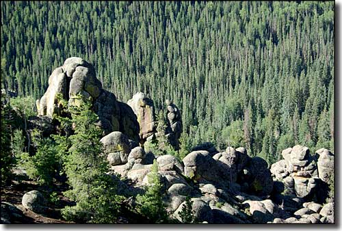 Rock Outcroppings on Mount Baldy