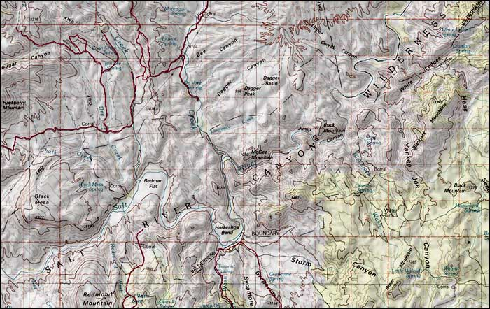 Map of Salt River Canyon Wilderness