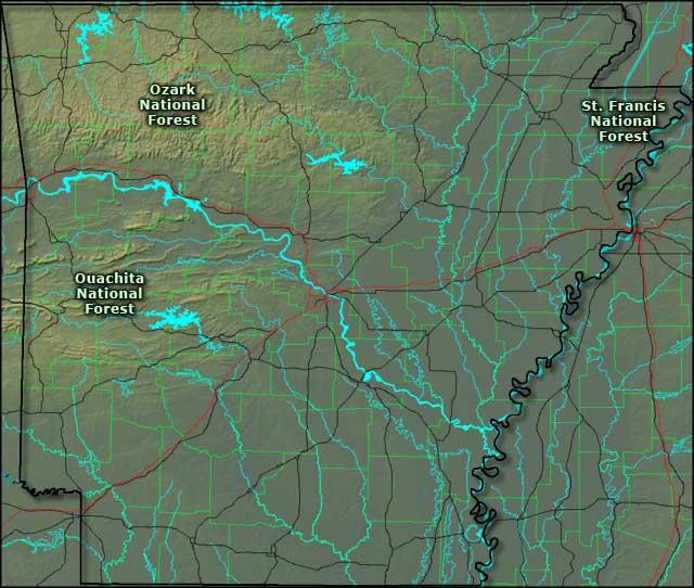 National Forests in Arkansas