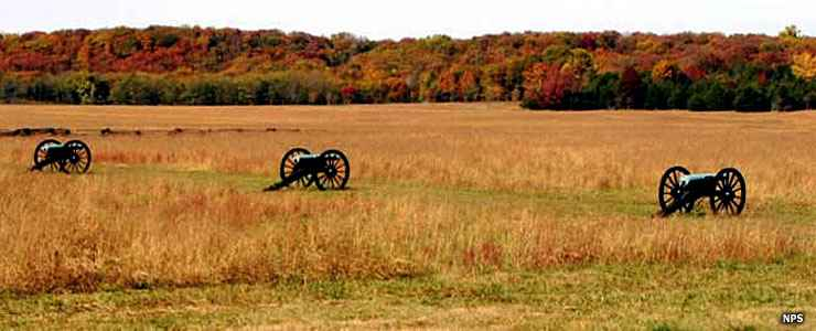 Cannons on display at Pea Ridge National Military Park