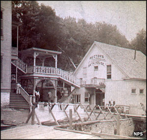 Rector Bathhouse in the 1870's