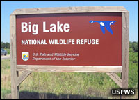 Big Lake National Wildlife Refuge sign