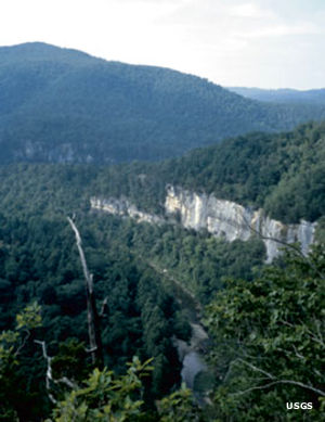 Buffalo National River in the Boston Mountains, Ozark National Forest