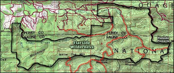 Flatside Wilderness map
