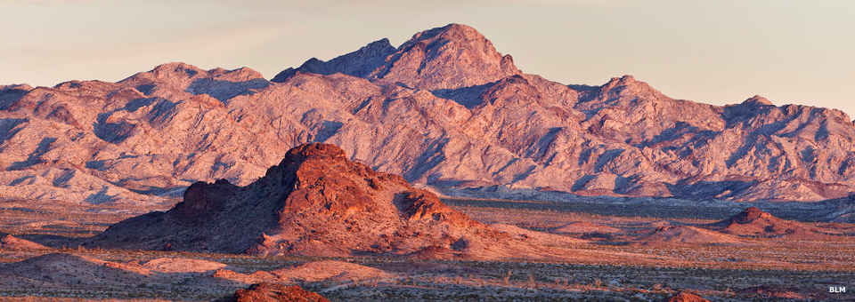 A view of the Chemehuevi Mountains
