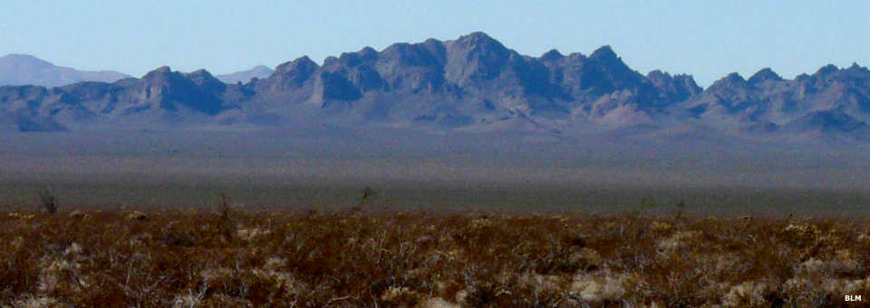 A view of the Stepladder Mountains