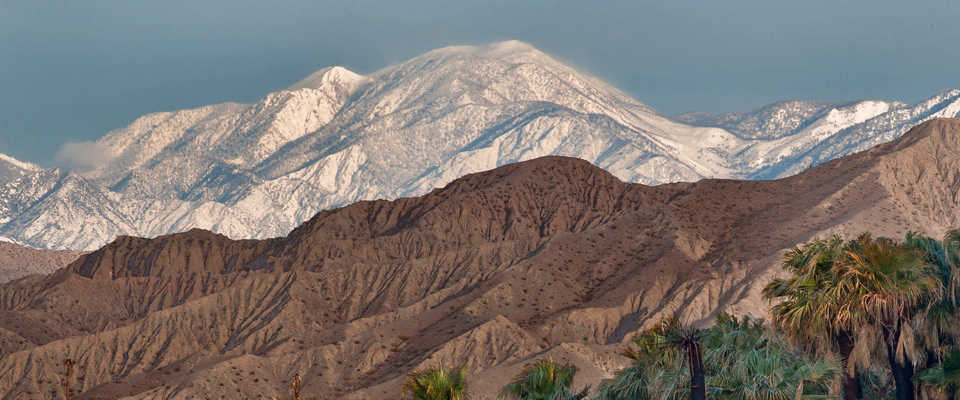 A view of San Gorgonio Mountain at Sand to Snow National Monument