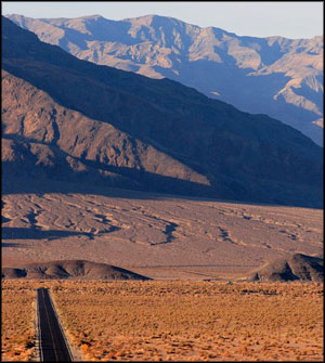 Typical view in Death Valley National Park