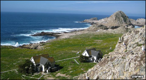 The research station on Southeast Farallon Island