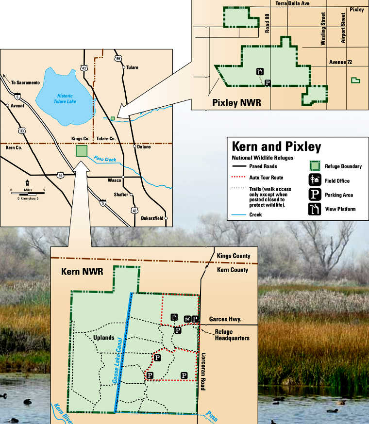Map of Pixley National Wildlife Refuge