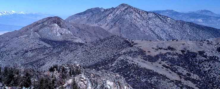 A view from the top of Inyo Mountains Wilderness