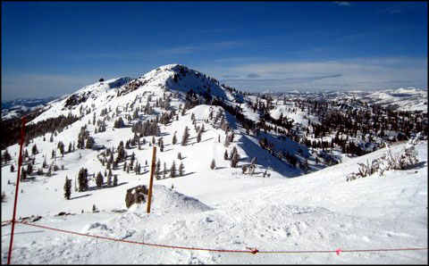 Granite Chief from the top of Squaw Valley Ski Area