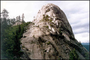 Castle Dome in Castle Crags Wilderness