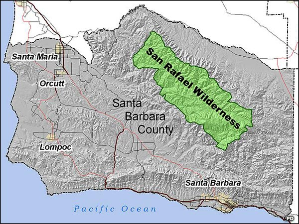 San Rafael Wilderness location map