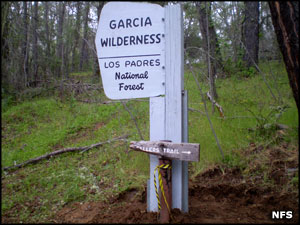 Garcia Wilderness sign