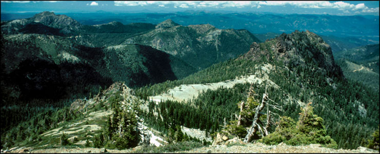 A view from Lookout Mountain on Siskiyou Wilderness