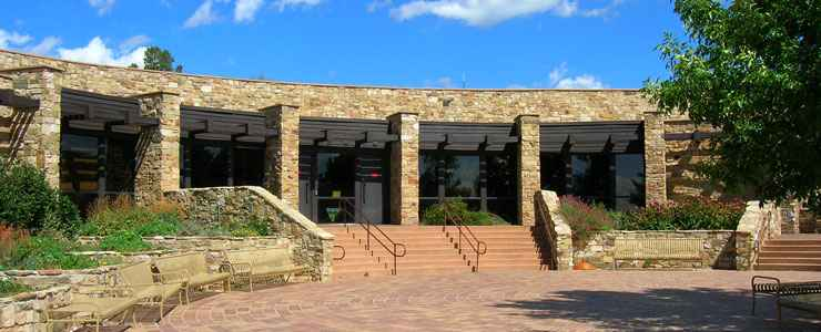 The entrance to the Anasazi Heritage Center