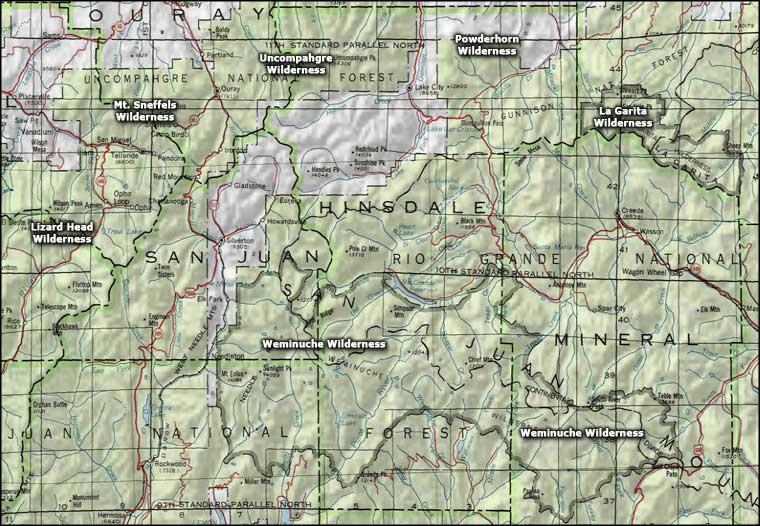 Weminuche Wilderness National Wilderness Areas