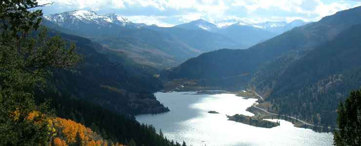 A view of Lake San Cristobal in Gunnison National Forest