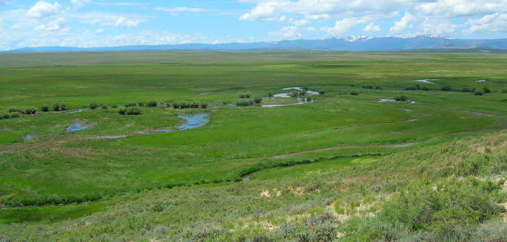 A view to the west across Arapaho National Wildlife Refuge