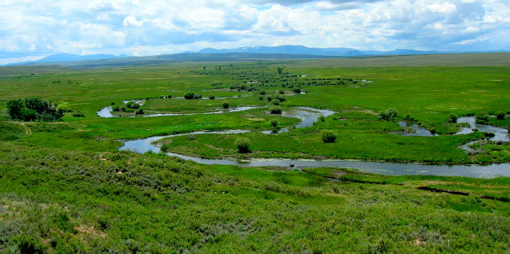 Ponds and streams at Arapaho National Wildlife Refuge