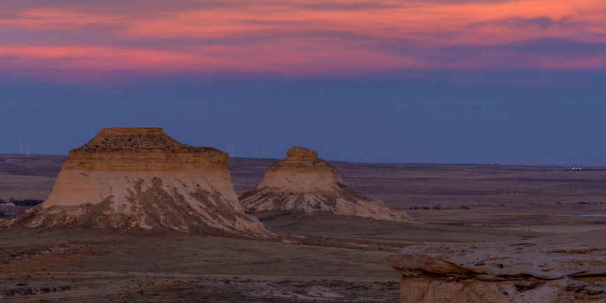 A view of the Pawnee Buttes