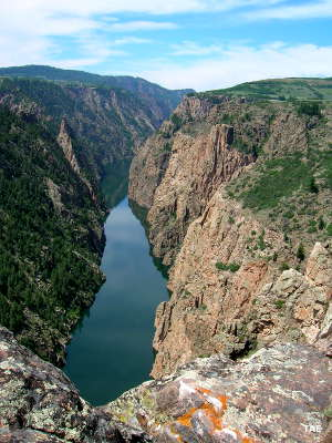 Black Canyon of the Gunnison at the eastern end of Morrow Point Reservoir