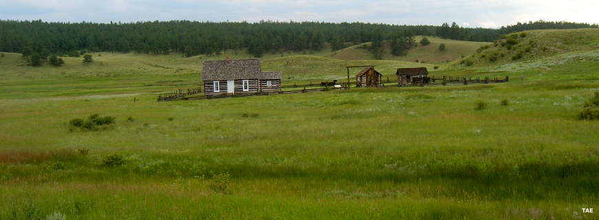 A view of the Hornbek Homestead at Florissant Fossil Beds National Monument