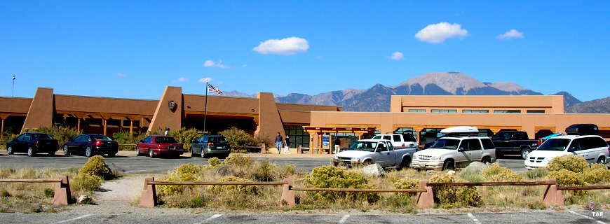 The visitor center at Great Sand Dunes National Park