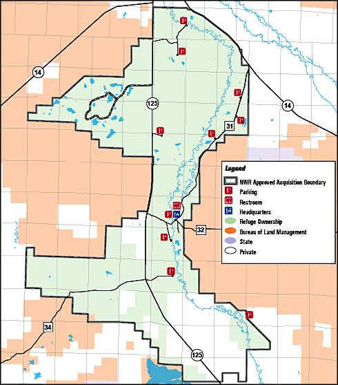 Map of Arapaho National Wildlife Refuge