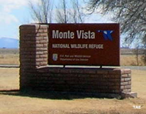 Monte Vista National Wildlife Refuge sign