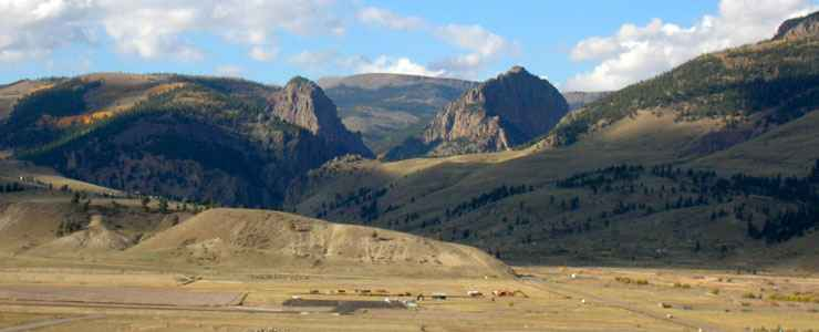 Coming to Creede from the south on the Silver Thread Scenic Byway