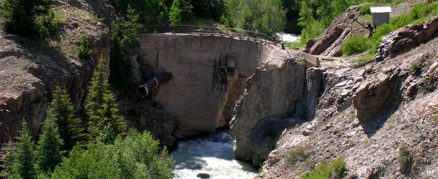 Dam breach on the Engineer Pass Road