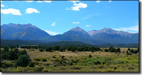 Western view from the Collegiate Peaks Scenic Byway