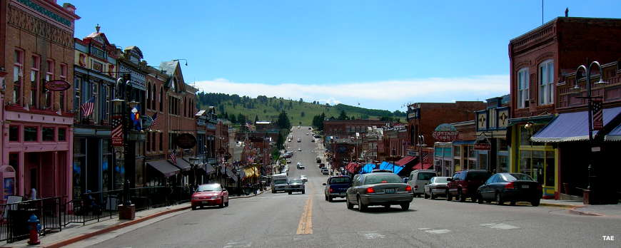 Looking down Main Street in Cripple Creek