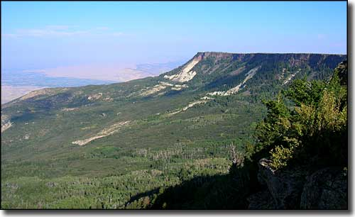 The view near Land's End on the Grand Mesa Scenic Byway