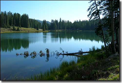 One of the many lakes along the Grand Mesa Scenic Byway