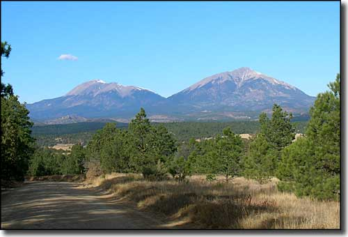 The Spanish Peaks from Gulnare on the Apishapa Road