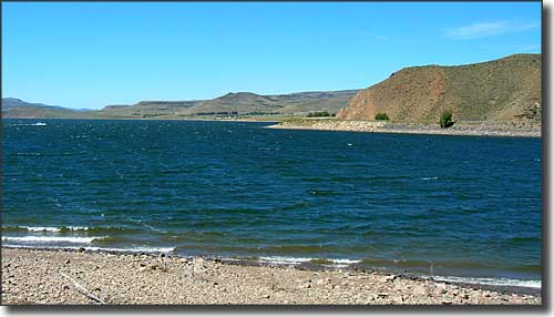 Blue Mesa Reservoir, part of Curecanti National Recreation Area at the northern end of the Silver Thread Scenic Byway