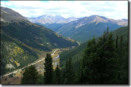 The view east from the summit of Independence Pass