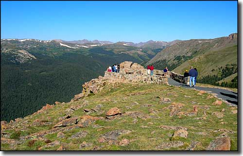 One of the overlooks above treeline along Trail Ridge Road