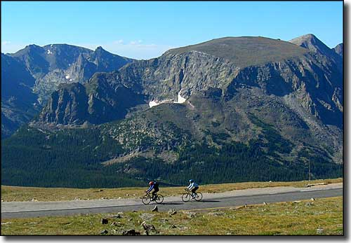 Bicyclists on Trail Ridge Road