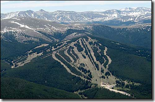 An aerial view of Ski Cooper