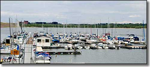 The marina at Cherry Creek State Park