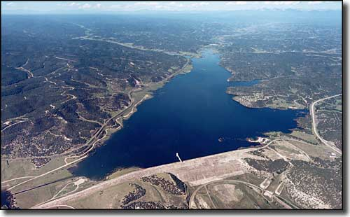 Aerial view of Trinidad Lake