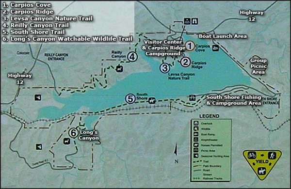 Map of Trinidad Lake State Park
